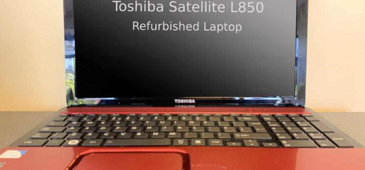 Toshiba Satellite L850 Refurbished Laptop – £150 inc VAT